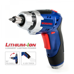 3.6V Cordless Screwdriver Foldable Electric Rechargeable with Work Light